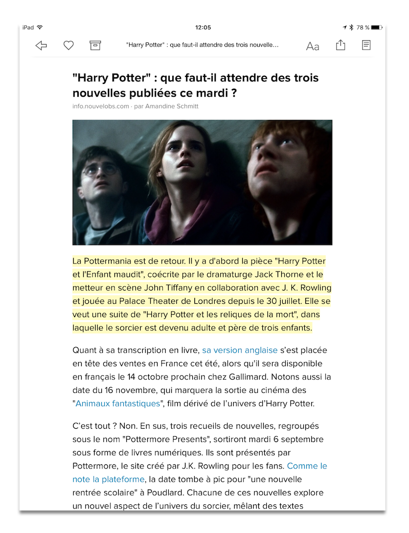 article harry potter