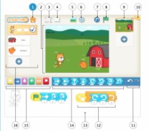 Une application Scratch sur tablette, ScratchJr pour Ipad