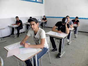 MG2Candidates in an aptitude exam in Tunisia june 2011-300x225